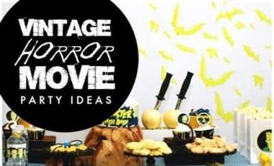 Boys Vintage Horror Movie Party Ideas
