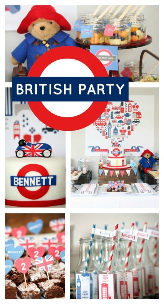British Themed Boy Birthday