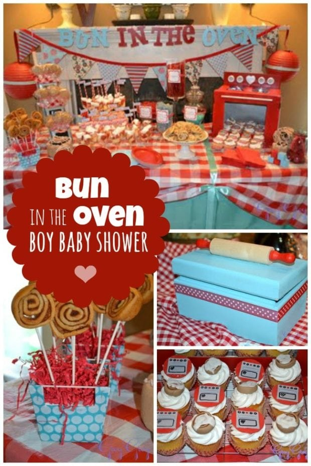 Bun In The Oven Boy Baby Shower Spaceships And Laser Beams