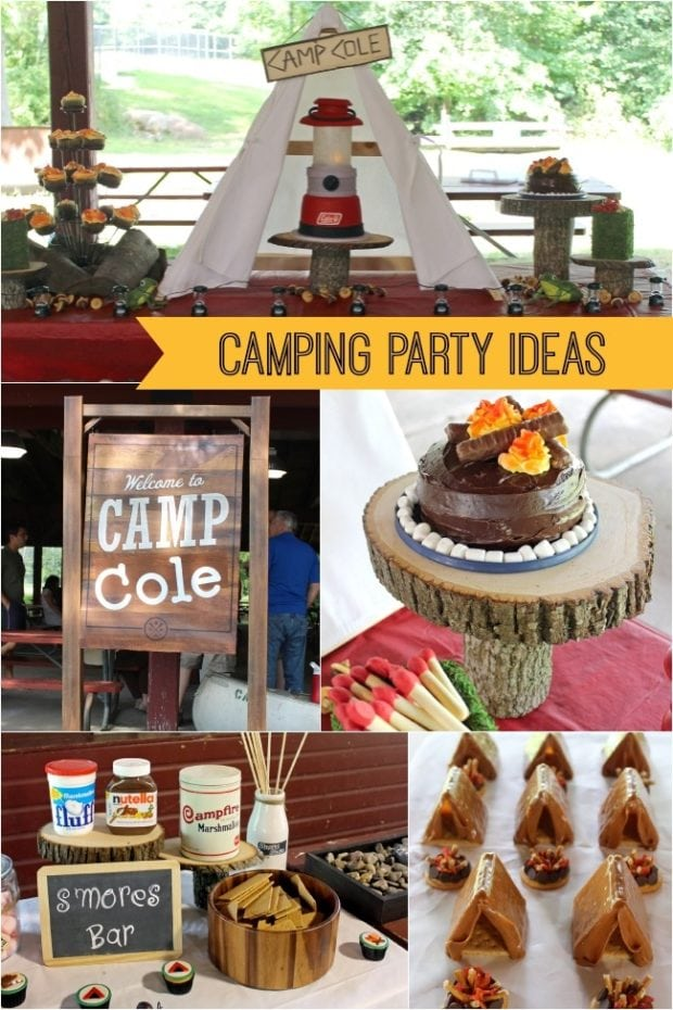 Gone Camping A Boy S Camping Birthday Party Spaceships