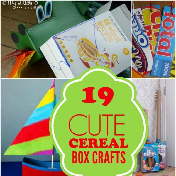19 Cute Cereal Box Crafts Spaceships And Laser Beams
