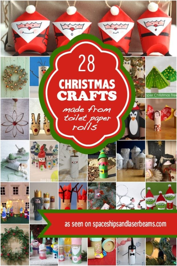 28 Christmas Crafts Made From Toilet Paper Rolls ...