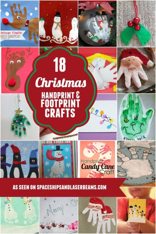 christmas hand craft ideas 18 handprint and footprint crafts spaceships 3627