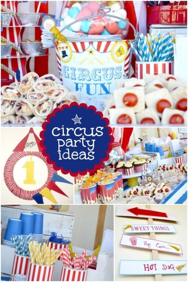 Boy S First Birthday Circus Party Spaceships And Laser Beams