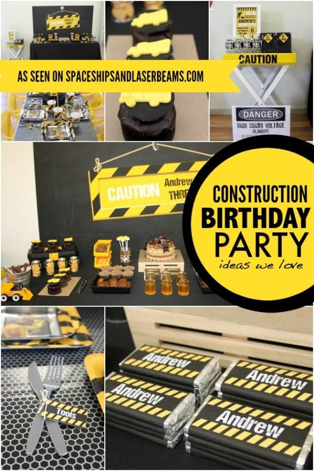 Cool Construction Truck Birthday Party Ideas | Spaceships ...