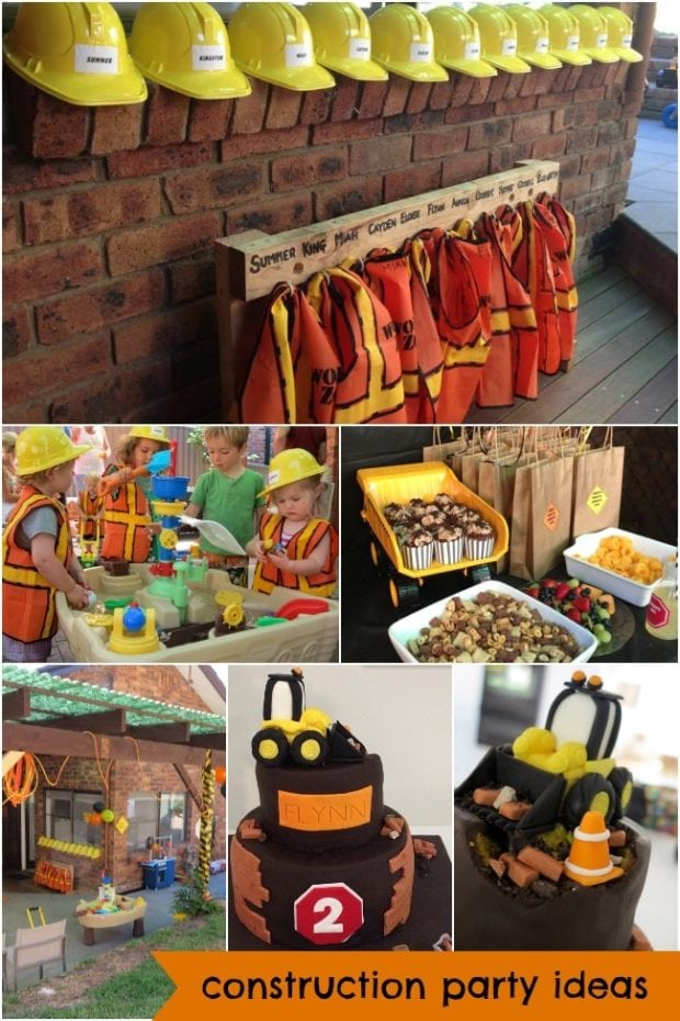 Construction truck boy 39 s birthday party theme spaceships for Decoration ideas 7th birthday party