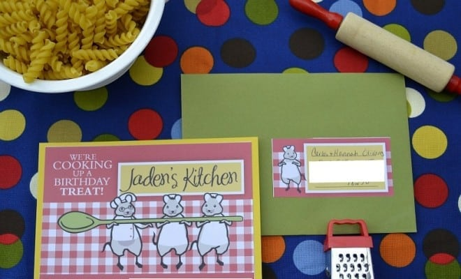 Cooking Birthday Party Baking Invite Little Chef Ideas 2300 5504