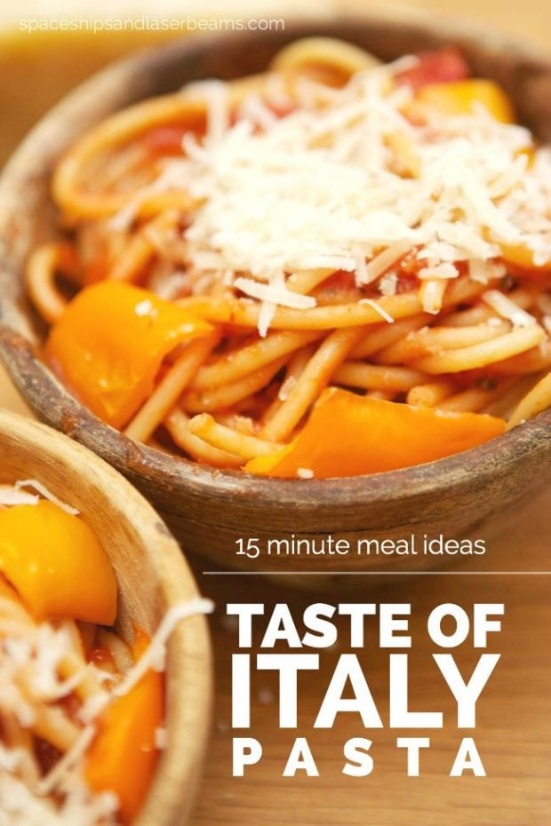15 Minute Meal Idea: Taste of Italy Pasta Recipe