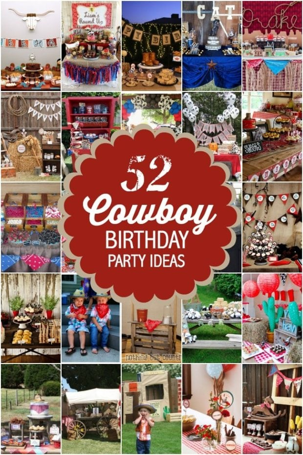 52 Cowboy Birthday Party Ideas