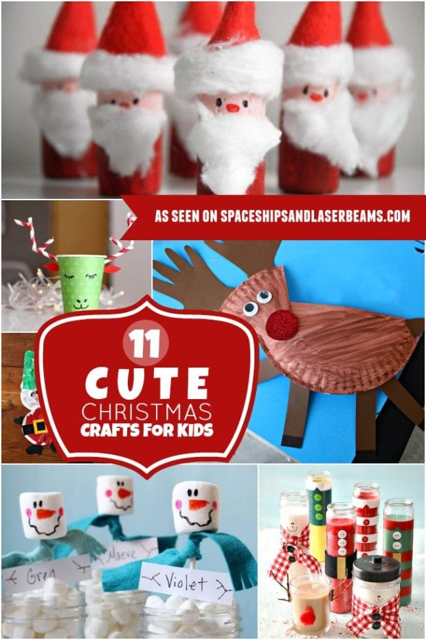 11 cute christmas crafts for kids spaceships and laser beams