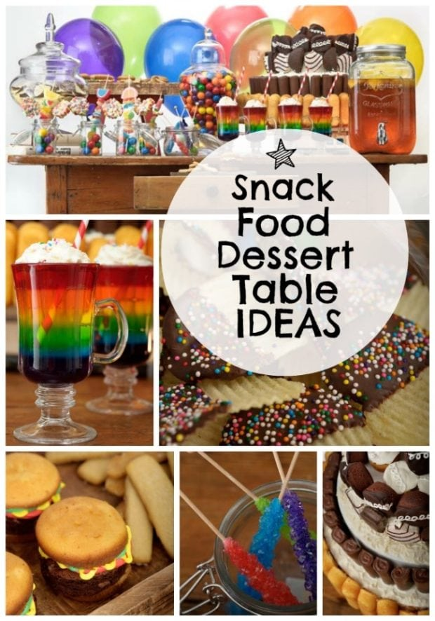 Snack Themed Dessert Table Spaceships And Laser Beams