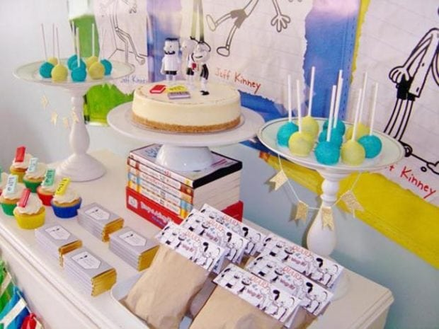 Diary of a Wimpy Kid 9th Birthday Party - Spaceships and