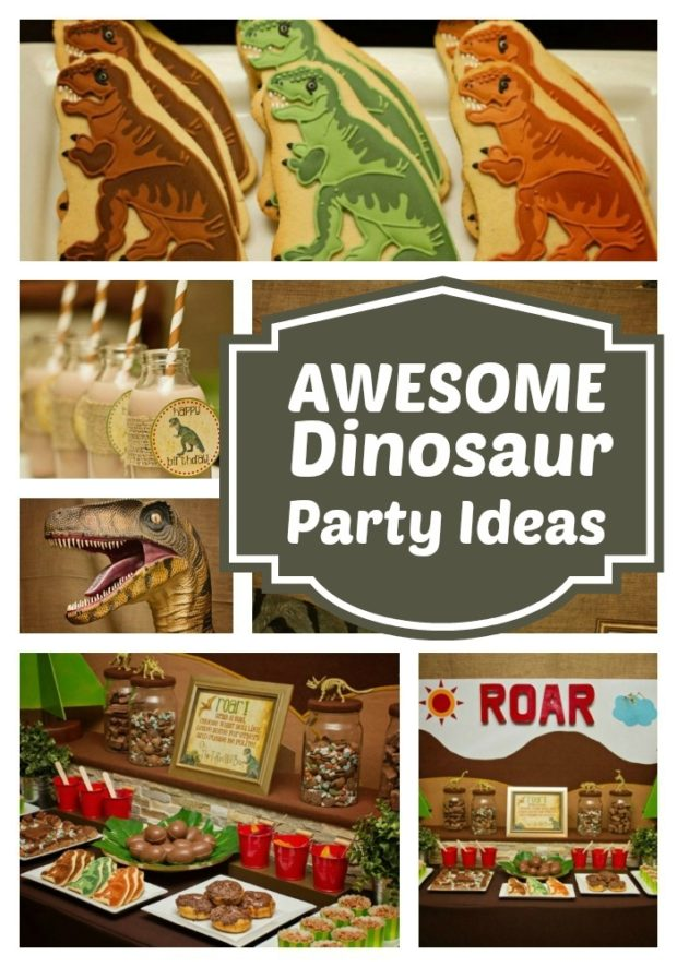 Roaring Good Dinosaur Birthday Party Spaceships And