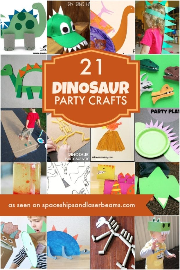 21 Dinosaur Crafts Ideas For Your Boys Party Spaceships and