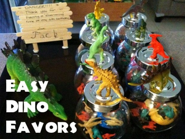 Easy Dinosaur Party Favors | Spaceships and Laser Beams