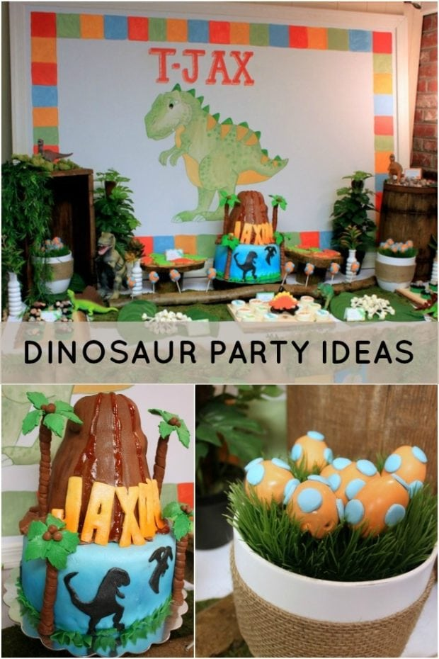 Dinosaur Themed 2nd Birthday Party | Spaceships and Laser ...