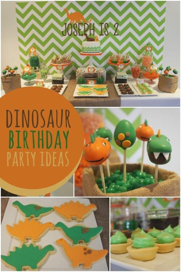 A Dino Mite Dinosaur Boy S 2nd Birthday Party Spaceships