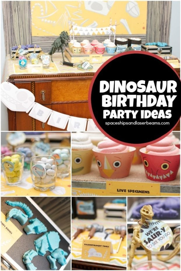 Dinosaur Hunter Birthday Party Spaceships And Laser Beams