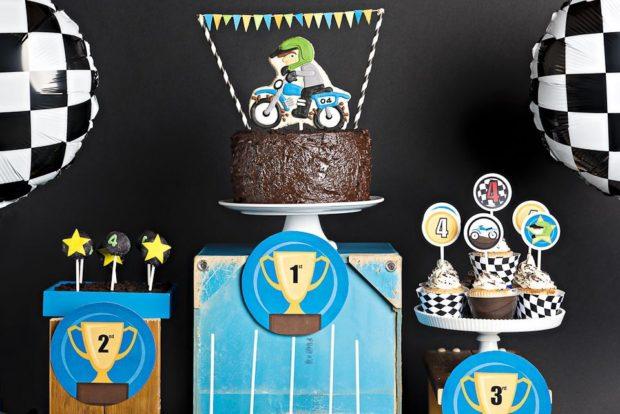 Boy Bash Dirt Bike Birthday Dessert Table Spaceships