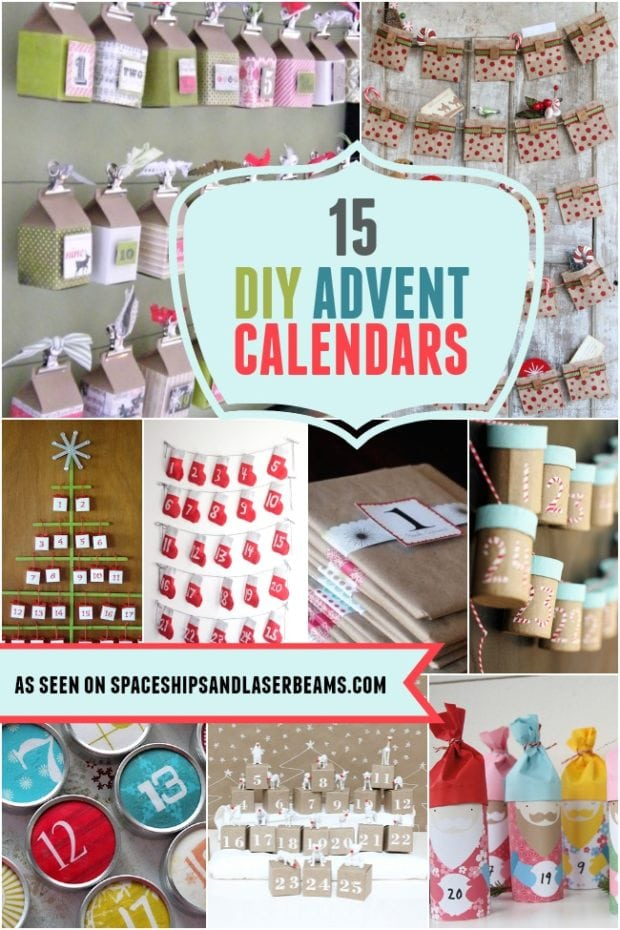 Diy Calendar Supplies : Diy advent calendars spaceships and laser beams