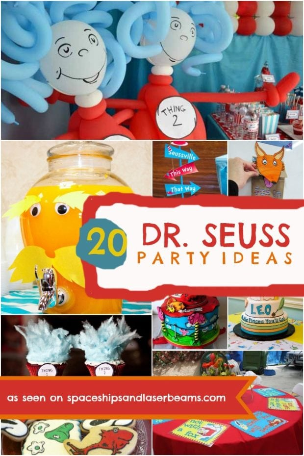 Dr Seuss Themed Birthday Party Spaceships And Laser Beams