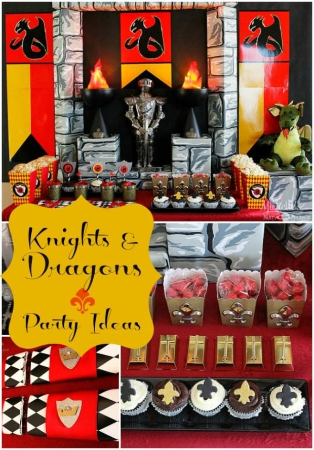 Knights And Dragons Boy S Birthday Party Spaceships And