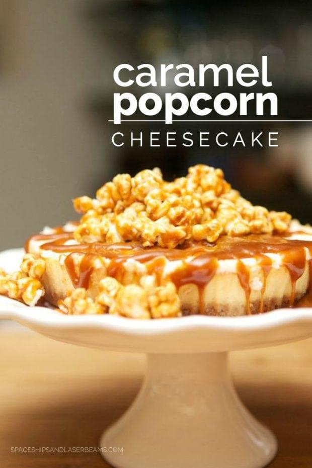 Caramel Popcorn Cheesecake