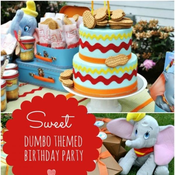 Elephant Theme 3rd Birthday Party: Dumbo Themed 3rd Birthday Party