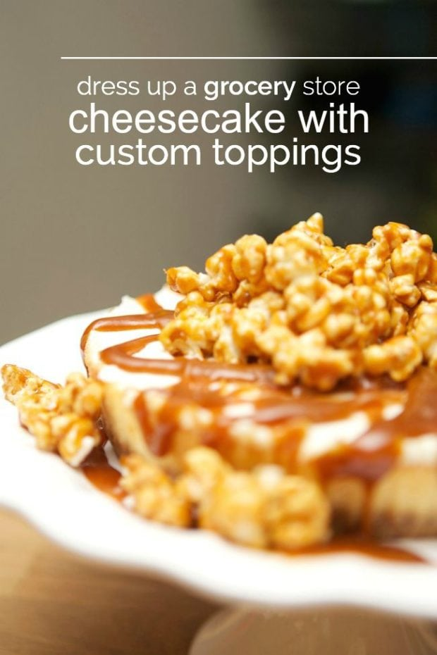 Easy Caramel Popcorn Cheesecake Recipe