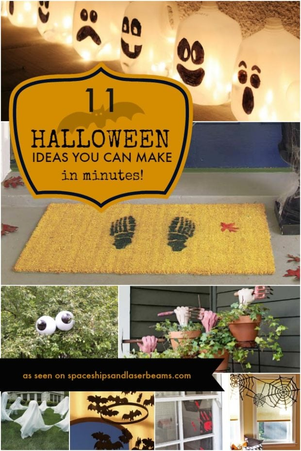 11 halloween decorations you can make in minutes