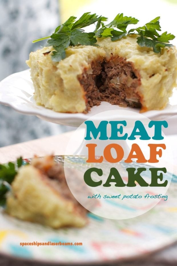 Unique dinner party food meatloaf cake with sweet for Unique meals