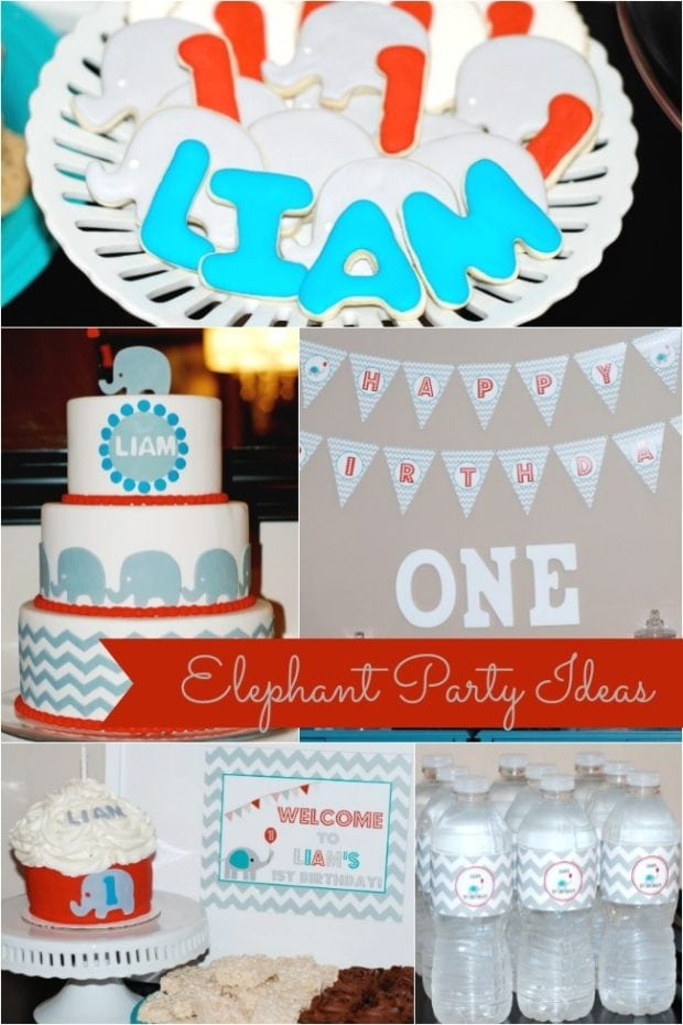 Sweet Elephant Themed Boy S First Birthday Party