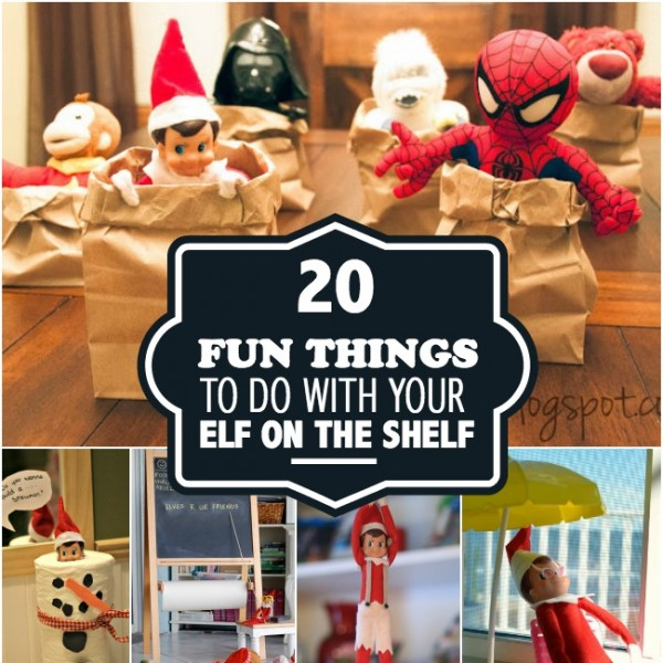 Do you have an Elf on the Shelf?Are you starting to panic about what you are going to do for the next month with him/her? Worry no longer! A sweet friend of mine, Jill, emailed me this AWESOME list today of things to do with your Elf on the Shelf! (Please leave a .