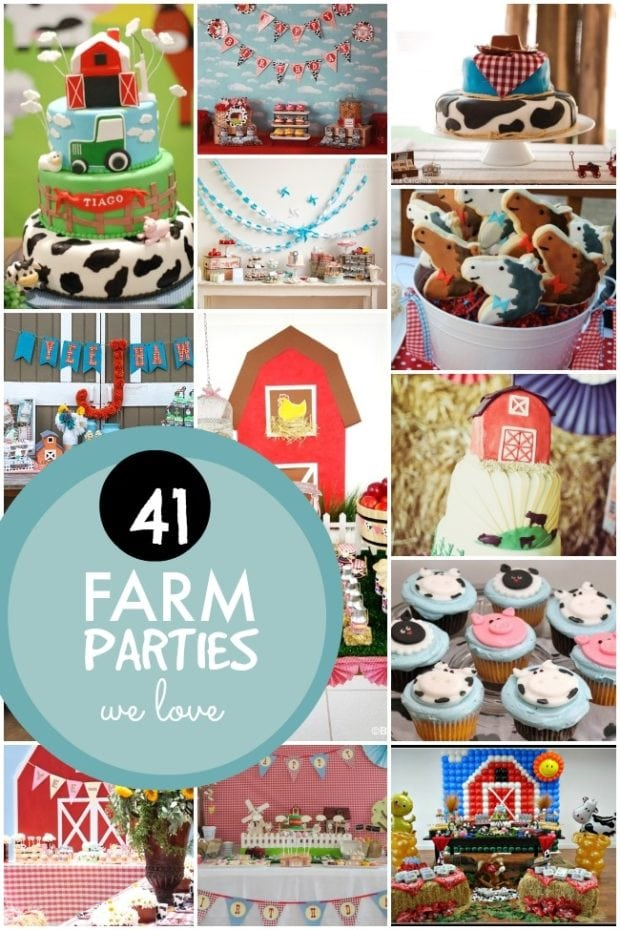 41 farm themed birthday parties spaceships and laser beams for Animals decoration games