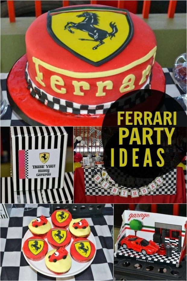 Ferrari Themed Boy Birthday Party Spaceships And Laser Beams