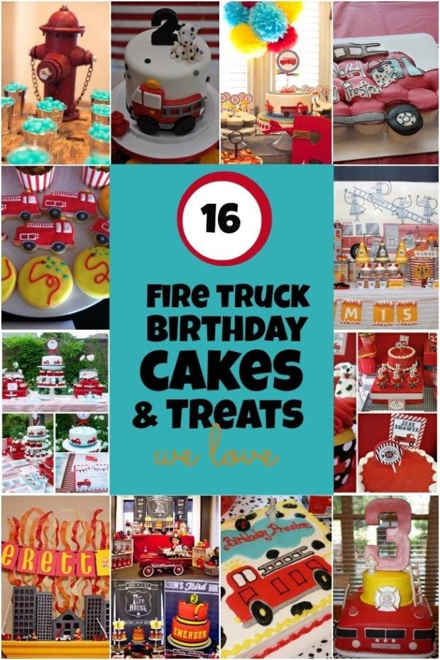 16 Fireman Birthday Party Cake Amp Treat Ideas Spaceships