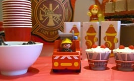 Fire Truck Man Engine Birthday Party Dessert Table We94rie9rr