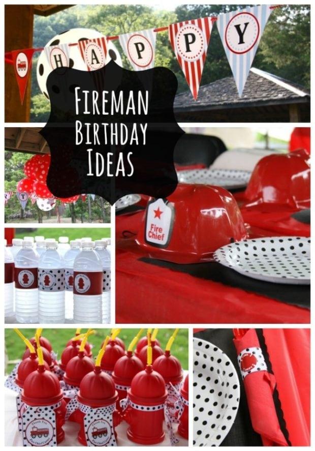 fire truck third birthday party