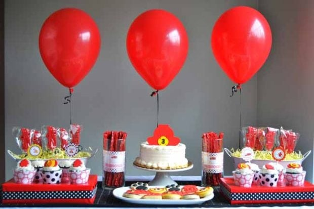 Fire House 3rd Birthday Boy Party Ideas Spaceships And