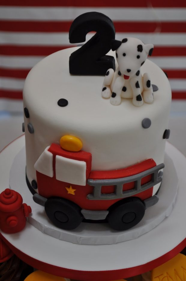 Fire Truck Birthday Cake Photos