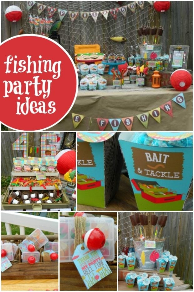 Vintage Gone Fishing Boys Birthday Party Spaceships And