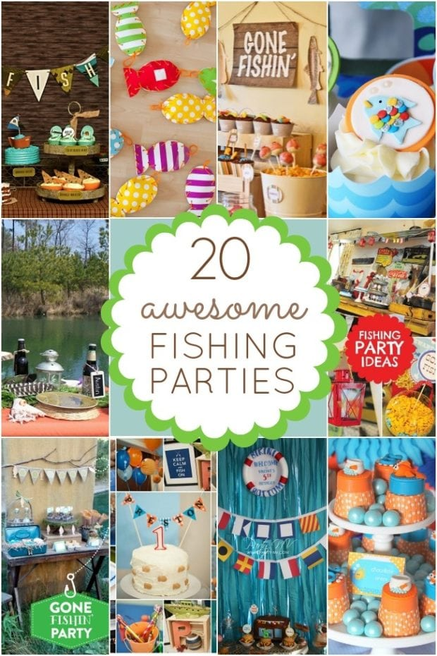 20 fishing themed birthday party ideas spaceships and for Fishing themed party supplies