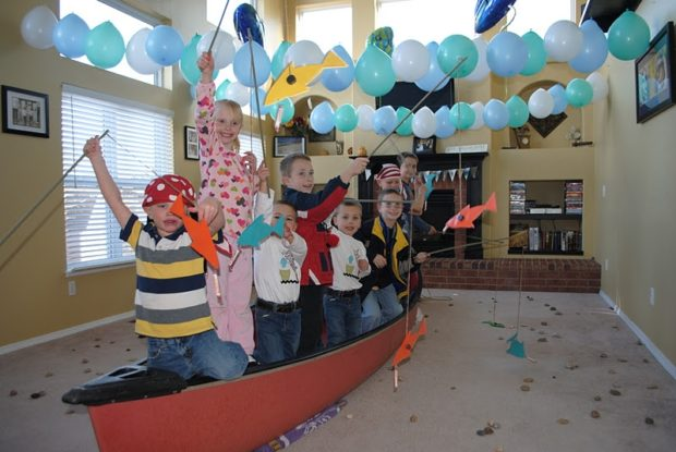 Cool customers a fishing party in colorado spaceships for Cool fishing games