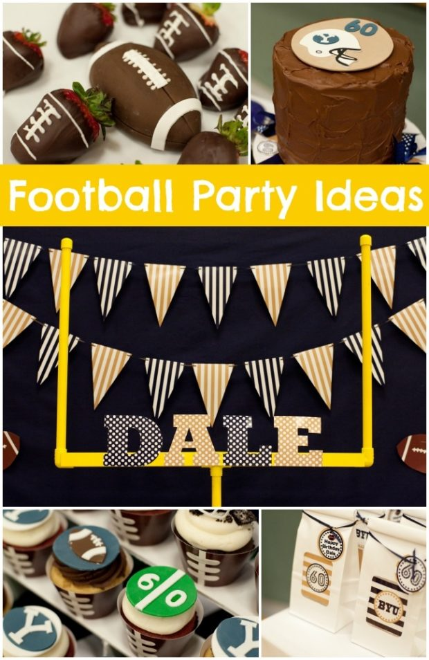 """Football Themed Birthday Party for a Big """"Boy ..."""