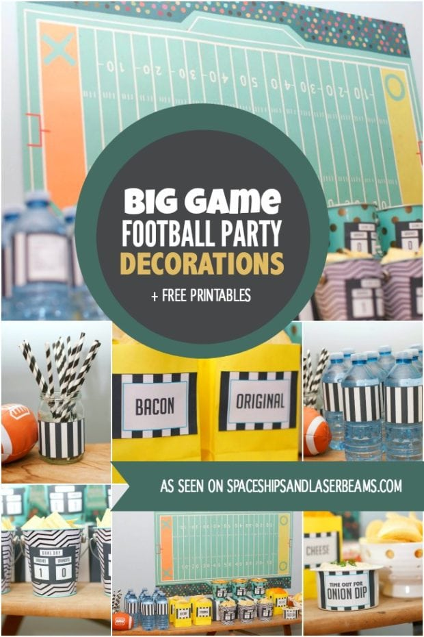 Big Game Football Party Decorations Free Printables