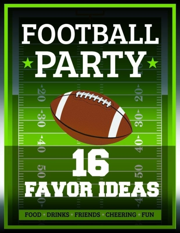 Super bowl party 16 football themed favor ideas for Super bowl party items