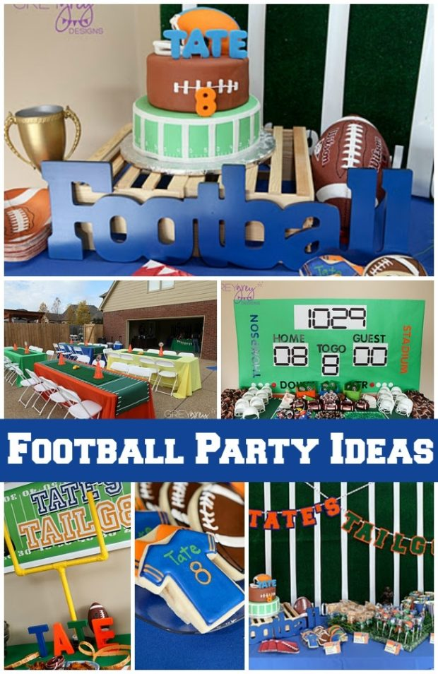 This boy 39 s football birthday party is a touchdown for All decoration games