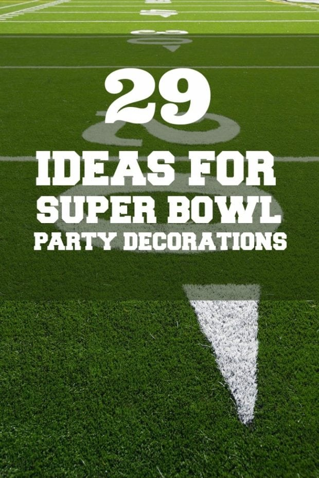 Football Party 29 Ideas For Super Bowl Decorations