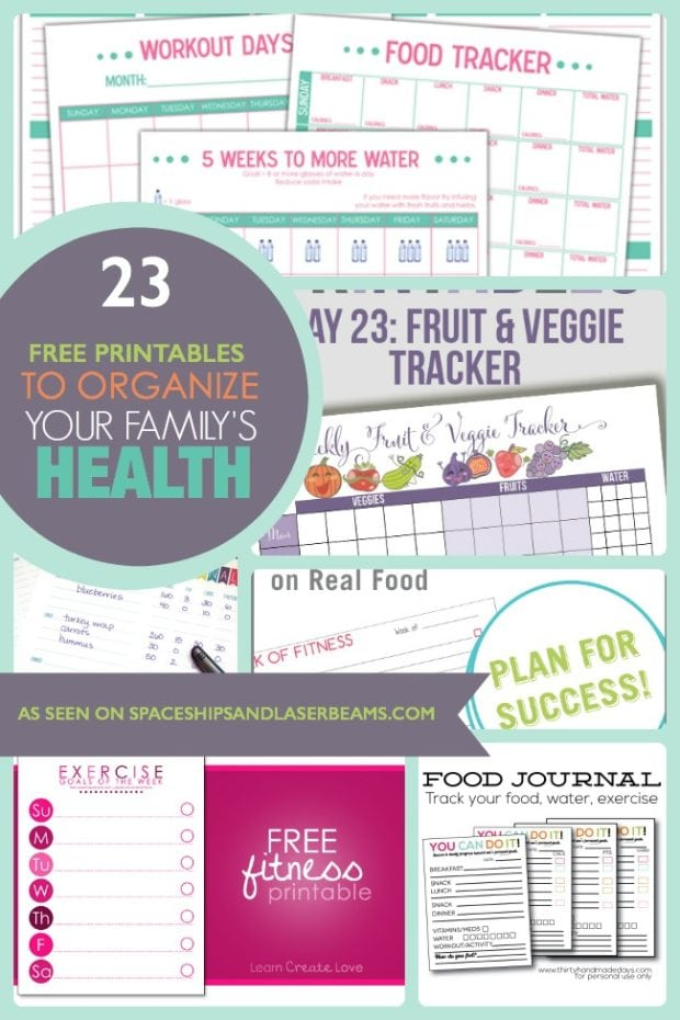 23 Free Printables to Organize Your Family's Health ...