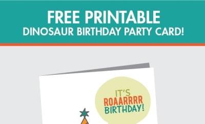 Free Printable Dinosaur Birthday Card – Birthday Card Printable Free